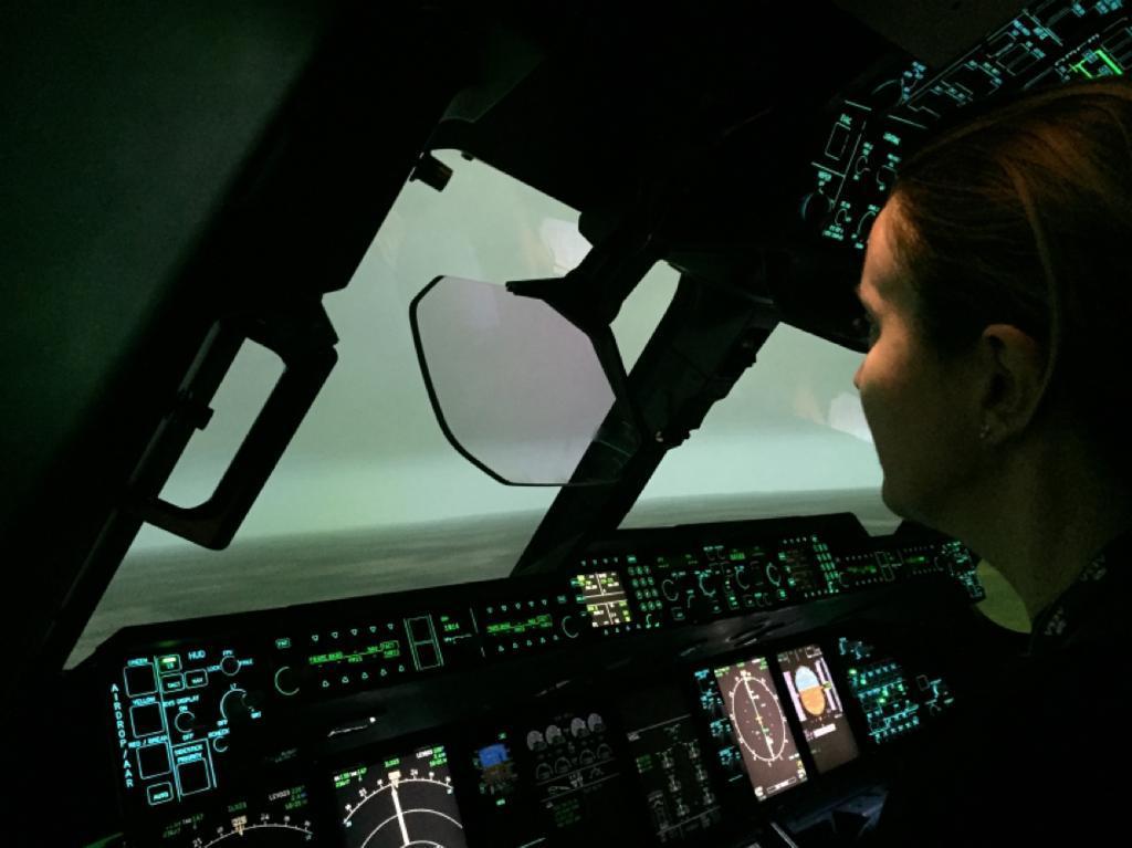 Consuelo Arto inspectora simulador a400